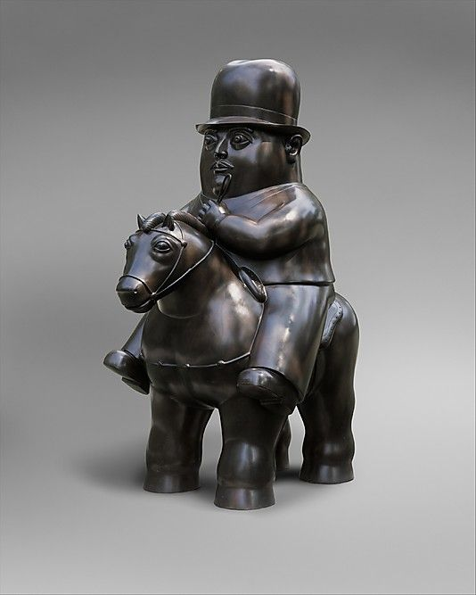 FAMOSOS DE COLOMBIA: FERNANDO BOTERO | Man on Horseback, Fernando Botero. metmuseum.org