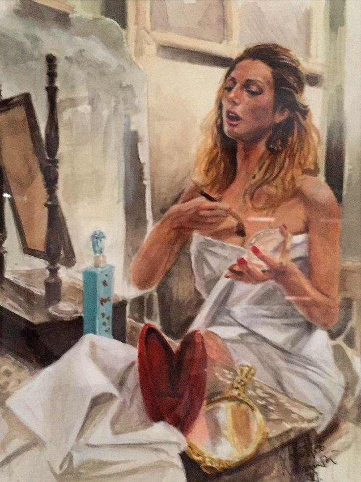 Matteo Nannini, Behind the scenes, olio su tela, 33X25, 2015