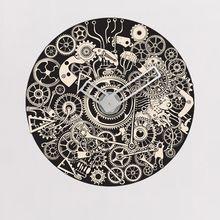 Sticker Horloge Engrenages Gali Art