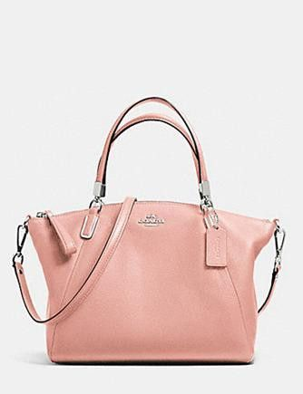 Coach Large Kelsey Satchel in Pebbled Leather