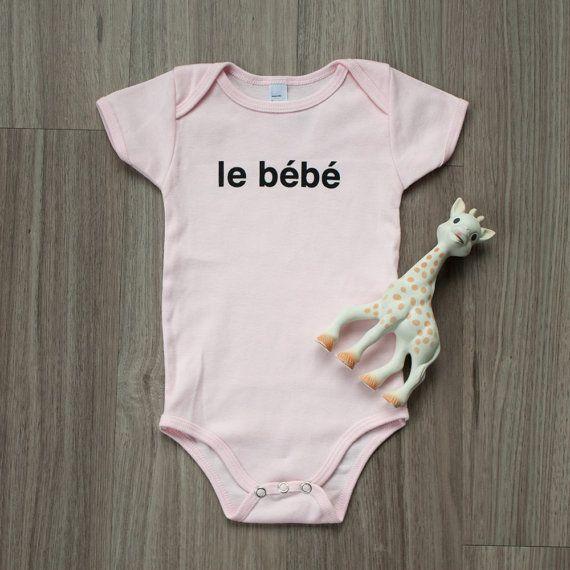 Le Bebe French Baby Onesie French Onesie by WhatAGrandAdventure