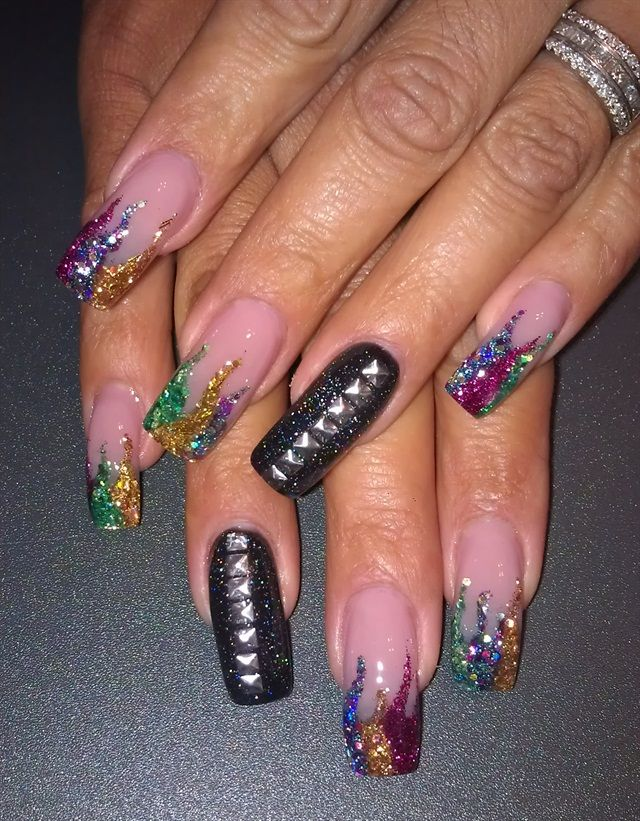 26 best Mardi Gras images on Pinterest | Holiday nails, Mardi gras ...