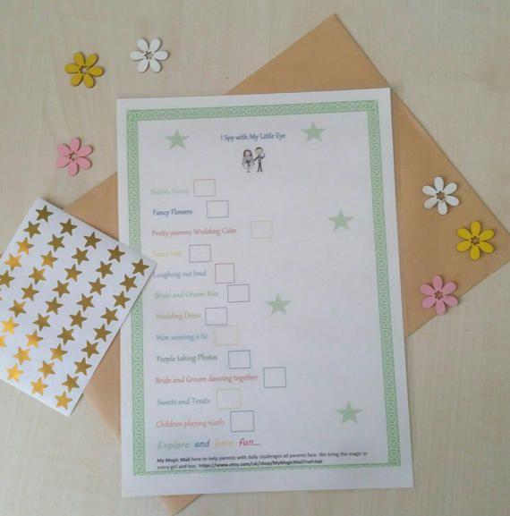 kids Wedding favour Children's wedding activity book