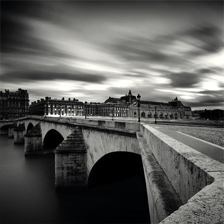 Pont Royal & Musee d'Orsay. Nice use of a long shutter speed to get that effect in the clouds. Need a tripod and a remote release to make this work.