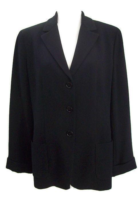Jones New York Womens Black Blazer Career Wear to Work Size 12 #JonesNewYork #Blazer