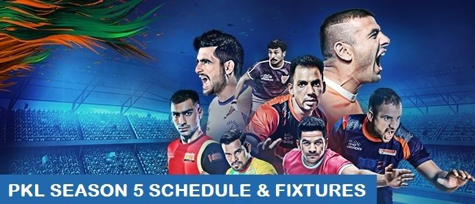 Pro Kabaddi League 2017 Schedule - PKL 2017 Season 5 Live TV channels, telecast, broadcast, live score, preview, matches, time, date, venue, zone, teams
