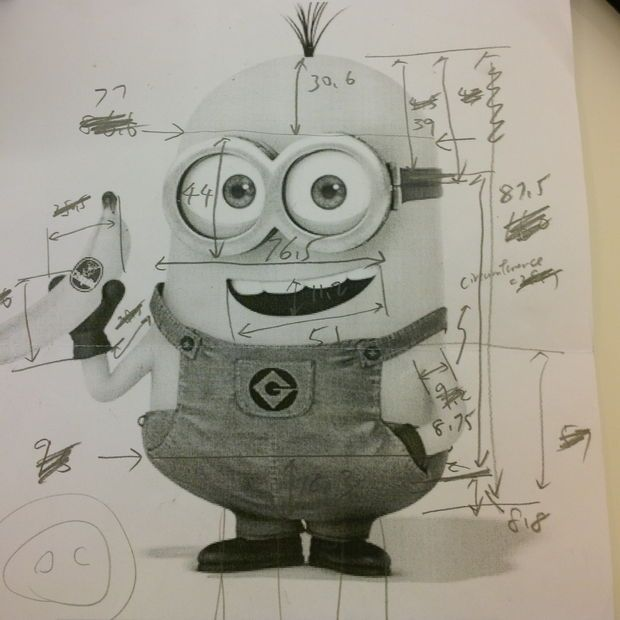 Cardboard Minion Halloween costume