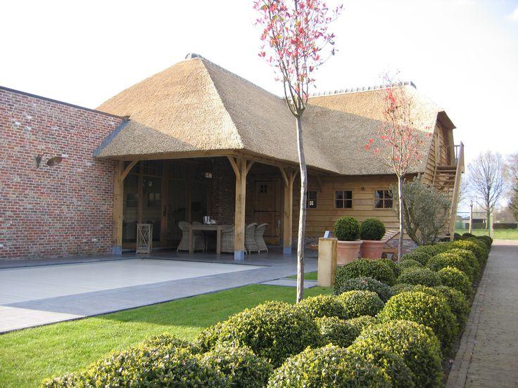 Overdekt terras met garage berging en verdieping poolhouse pinterest met and garage for Overdekt terras