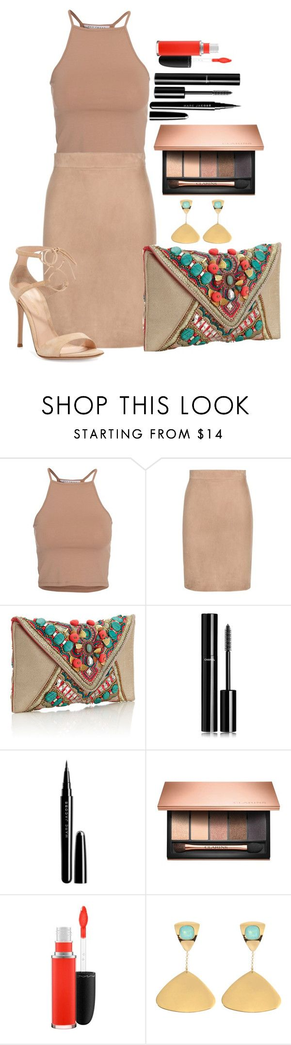 """Untitled #1400"" by fabianarveloc on Polyvore featuring NLY Trend, Tom Ford, Accessorize, Chanel, Marc Jacobs, Clarins, MAC Cosmetics, Helene Zubeldia, Gianvito Rossi and women's clothing"