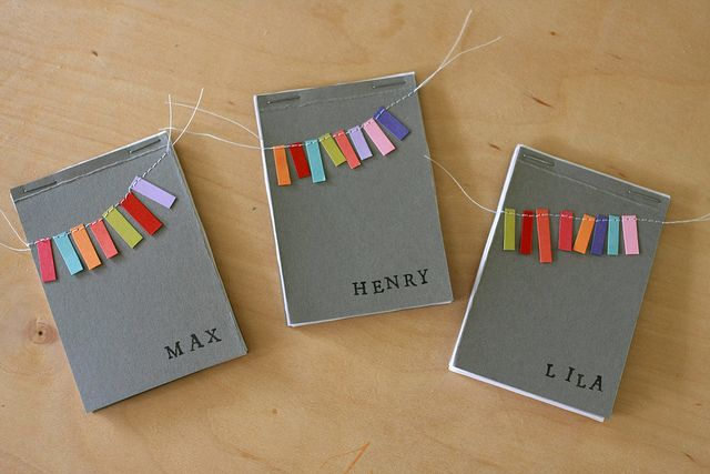 Wee notebooks with serious charm (no tutorial attached, but seems easy enough to make)