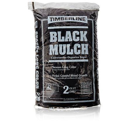 Timberline Black Mulch, 2 cu ft - Walmart.com