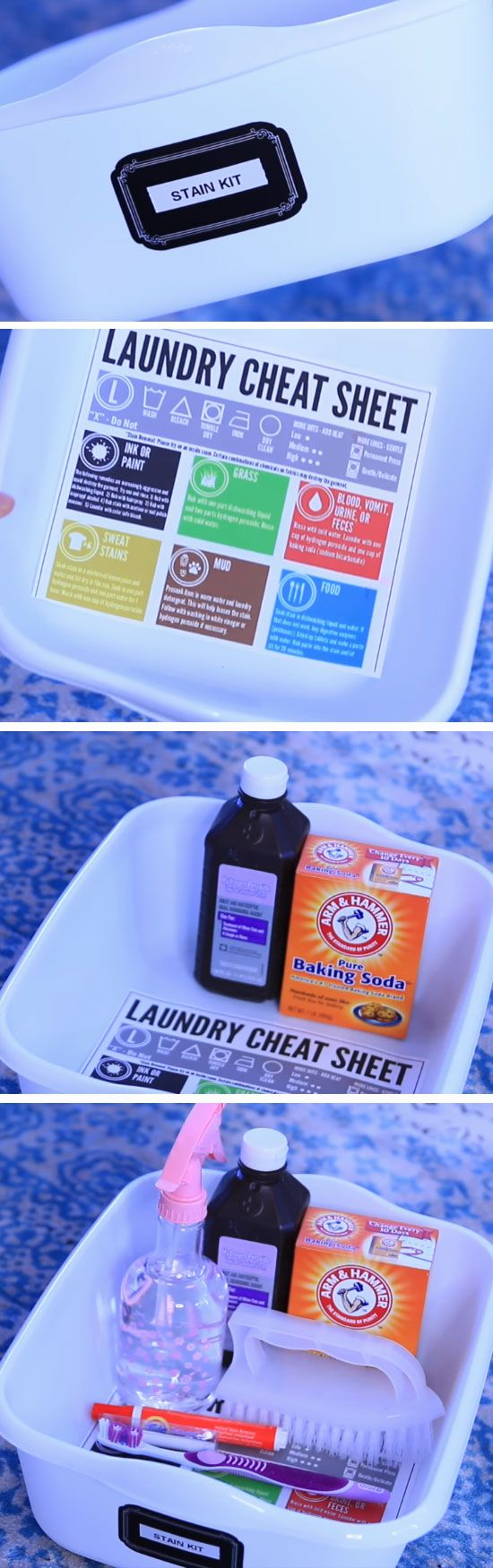 Keep a Stain Kit | 18 DIY Laundry Hacks for Busy Moms that you didn't know you needed!