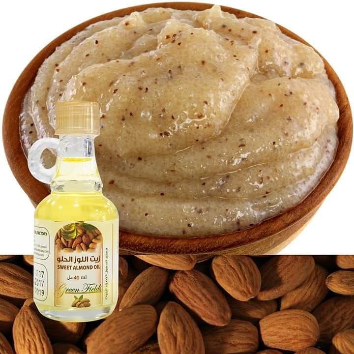 سكرب السكر وزيت اللوز للوجهة والبشرة الحساسة السكر البني ناعم على البشرة ولا يجرحها تعتبر مقشرات السكر رائعة لتقشير بشرتك فهي Sweet Almond Oil Food Sweet