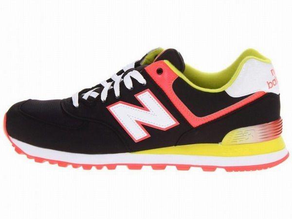 Joes New Balance 574 WL574APK Black Red Yellow White Alpine Womens Shoes