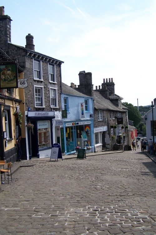 Sometimes referred to 'the auld grey town' because it was built mainly of grey stone, Kendal is a large Market town in the east of Cumbria.Photo of Kendal, Cumbria, by Eric Heijmans - Pictures of England Royalty Free Stock Photos
