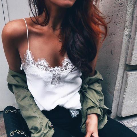 Sexy Lace Vest Top
