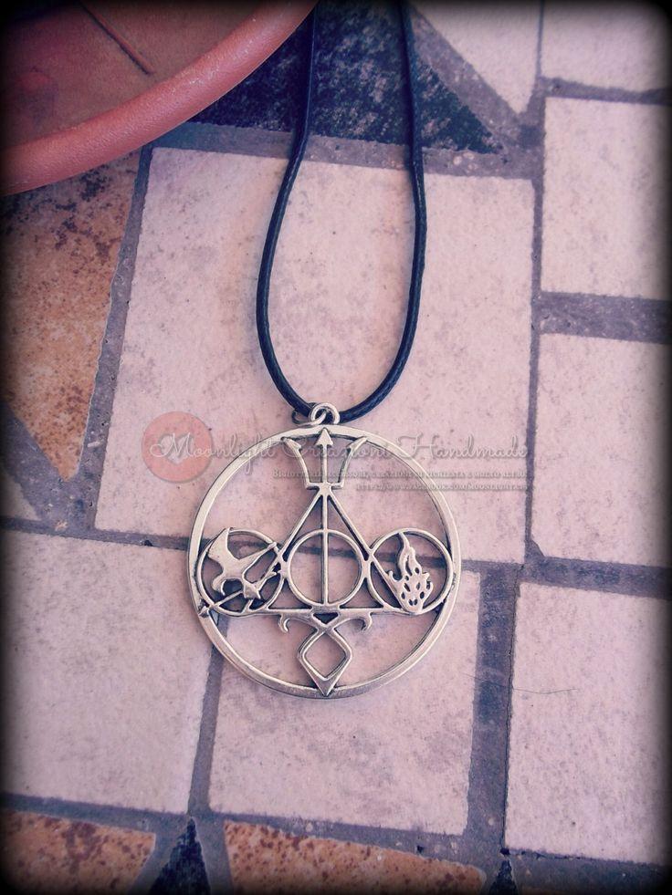 Multifandom Necklace: Harry Potter, Hunger Games, Divergent, Percy Jackson, Shadow Hunter