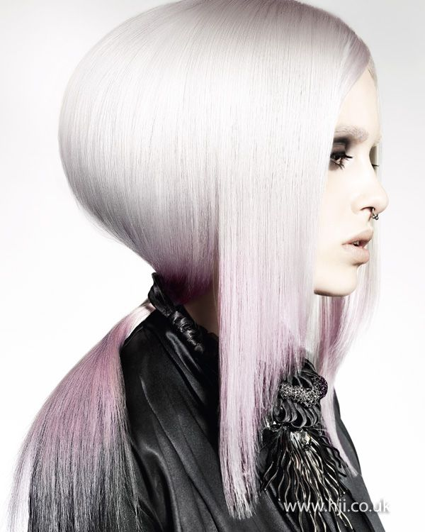 #hair #platinum #ombre #light #pink #dip #dye #personal #style #piercings #alt #directional #fashion #forward #hairstyle
