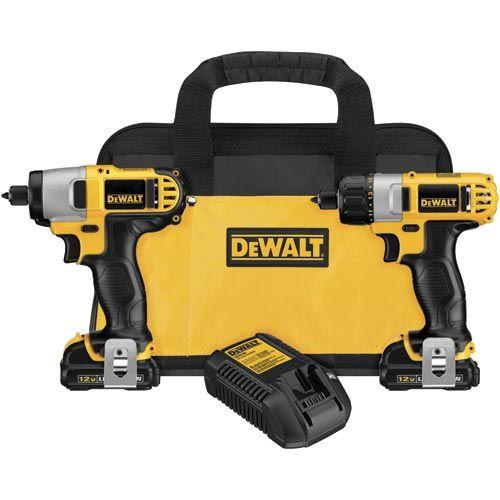 Dewalt Dck210s2 12v Max Screwdriver Impact Driver Combo Kit Impact Driver Drill Combo Kit