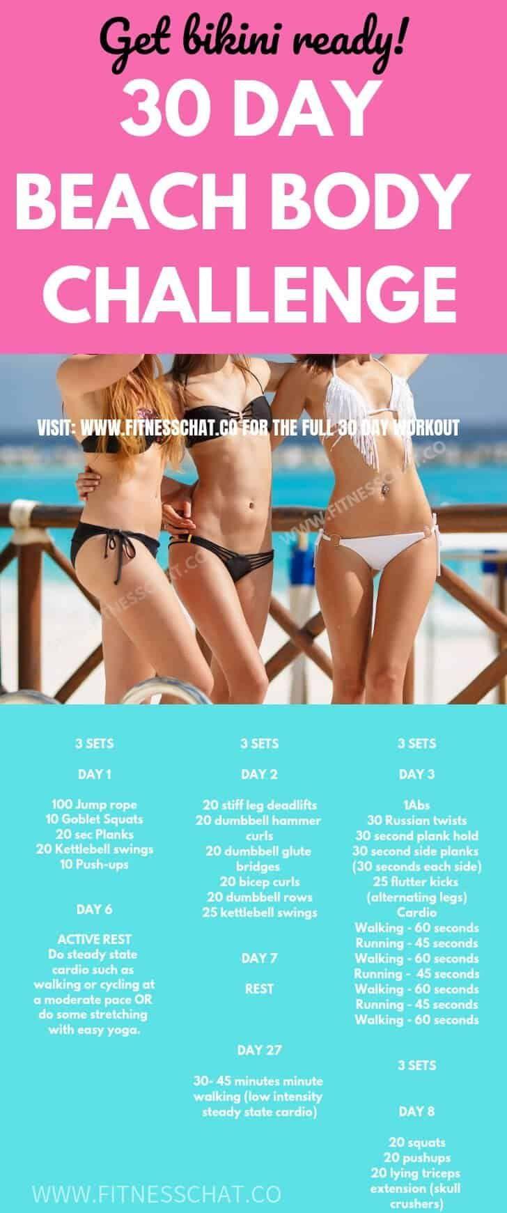 30 Day Ultimate Bikini Body Workout Challenge (Summer Body Workout ) – WORKOUT PLANS.