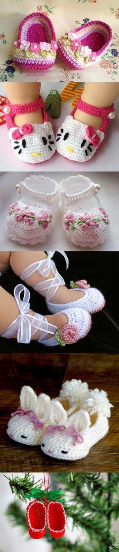 crochet baby slippers M1