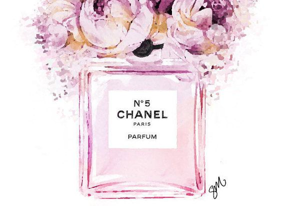 Illustration De Mode De Pivoines Floral Chanel Par