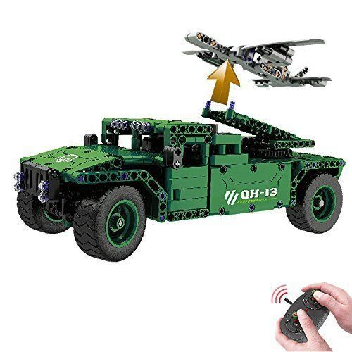 Lego Type Car Humvee Construction Toy Jeep 450 Pcs Remote Control Gift Boys NEW #Gk