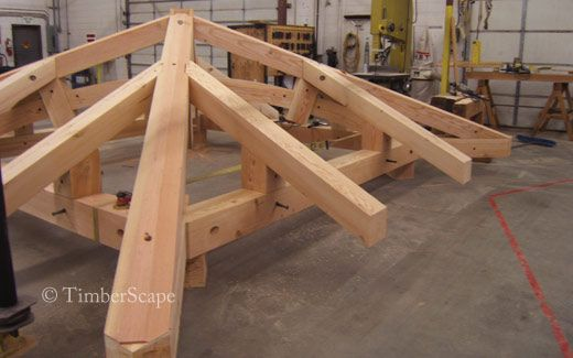 Manufacturing of a timber gazebo roof