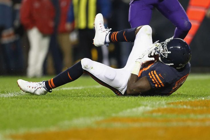 Monday Night Football: Vikings vs. Bears:   20-10, Bears  -     Mon. October 31, 2016. Alshon Jeffery #17 of the Chicago Bears scores a touchdown during the third quarter against the Minnesota Vikings at Soldier Field on Oct. 31, 2016 in Chicago.