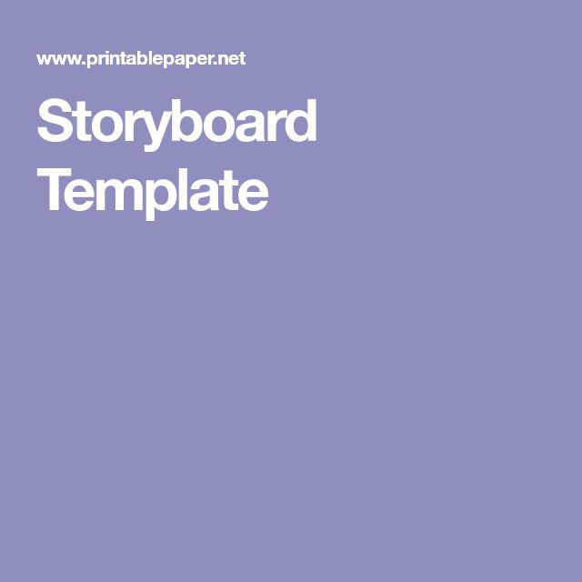 The  Best Storyboard Pdf Ideas On   Storyboard