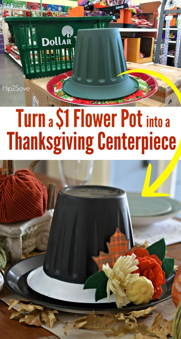Dollar Store Thanksgiving Hat Centerpiece