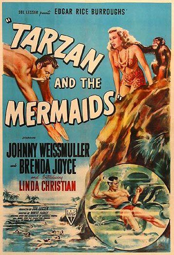 Tarzan and the Mermaids starring Johnny Weissmuller and Brenda Joyce