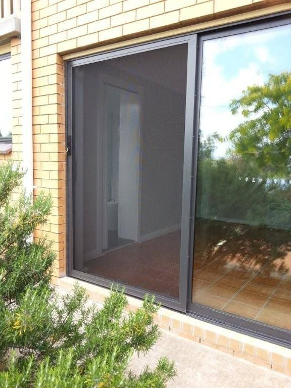 Recent Canberra Security Doors & Screens installation of Prowler Proof ForceField®  at Macgregor in ACT, this photo showing off the powder coat which is the Colorbond colour Monument (Matt).