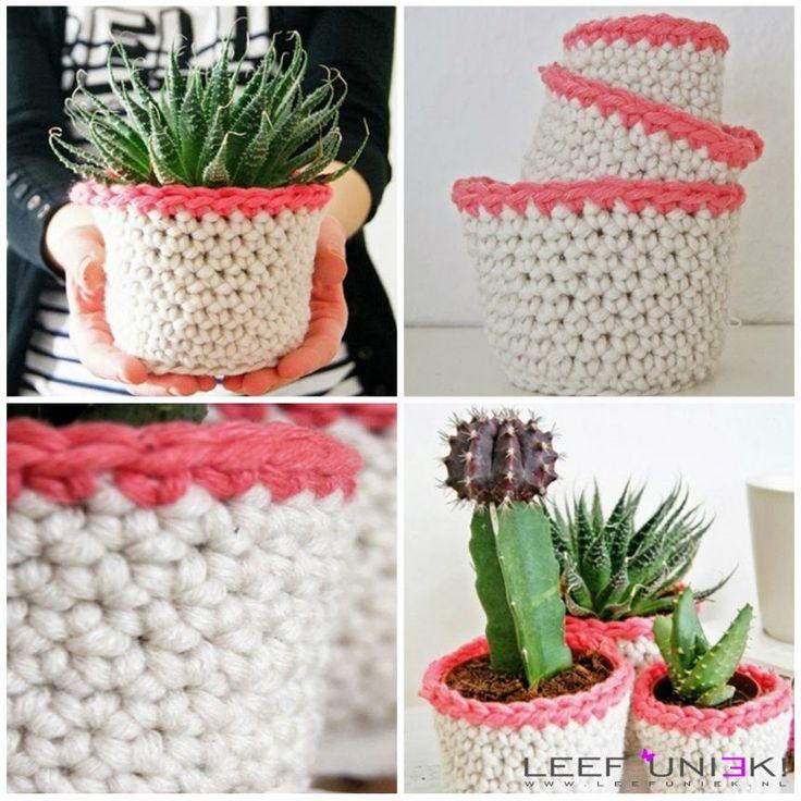 Leef Uniek   DIY   Manden *Schattige mandjes voor je bloempotten*