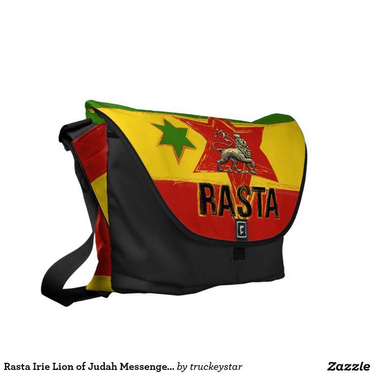 Rasta Irie Lion of Judah Messenger Bags