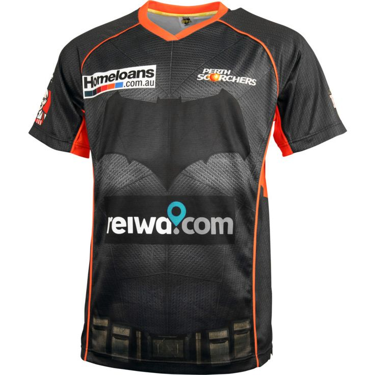 "On the 2nd of January 2016, the Perth Scorchers take on the Sydney Sixers in a special match-up to celebrate the release of BATMAN v SUPERMAN: DAWN OF JUSTICE which is in cinemas March 24!"" This is the official jersey for the occasion - made with a sublimated design for maximum comfort and durability on and off the field – it lets you show which side you're on in this epic superhero battle between the two teams!"