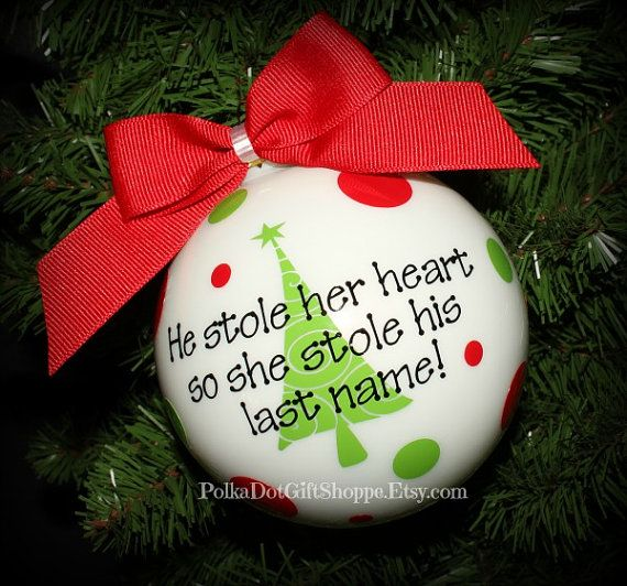 Our First Christmas Ornament Wedding by PolkaDotGiftShoppe on Etsy, $19.99