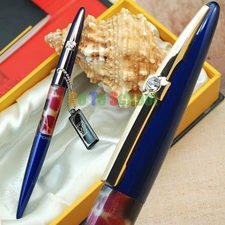 Пикассо 988 мир во всем мире синий с капюшоном F перьевая ручка с оригинальной коробка бесплатная доставка