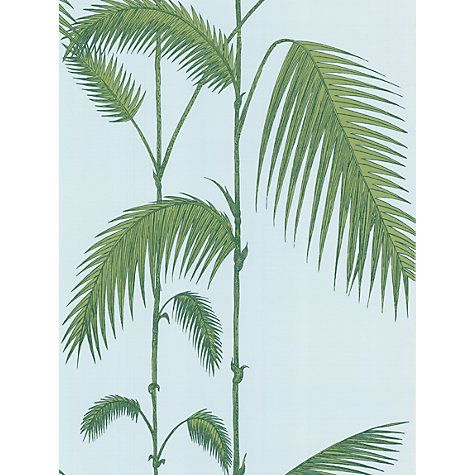 Buy Cole & Son Palm Leaves Wallpaper, Blue / Green, 66/2010 Online at johnlewis.com
