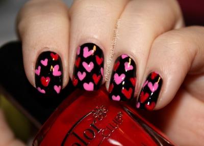Rebecca's Valentine's Day nails.: Nails Nails, Heart Nails, Nails Art, Nails Heart, Cute Nails, Pink Nails, Valentine'S S, Valentine Nails, Valentine Day Nails