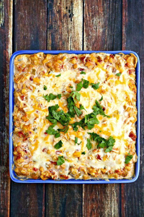 Hot Mexican Corn Dip with Hatch Chiles - plus 49 more fabulous Hatch Chile recipes!