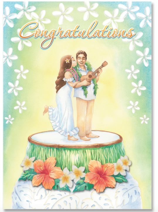 """Aloha Wishes"" Congratulations Greeting Card"