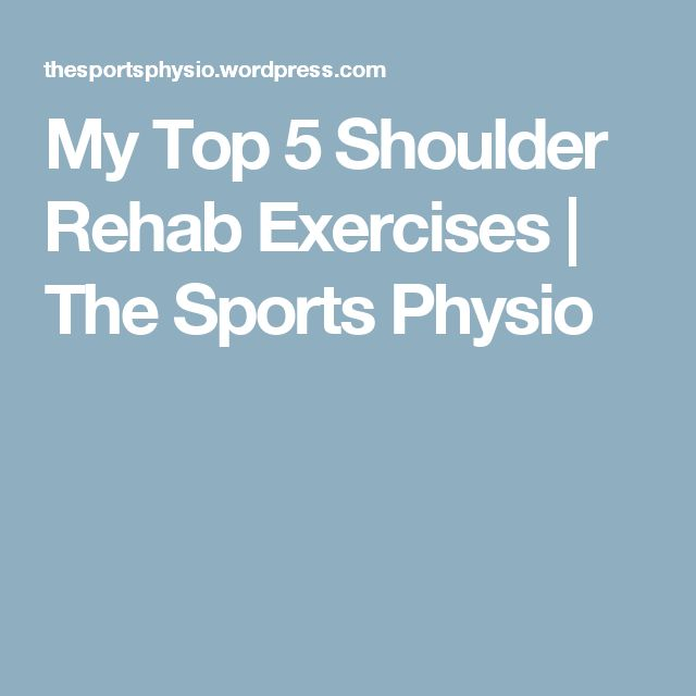 My Top 5 Shoulder Rehab Exercises | The Sports Physio