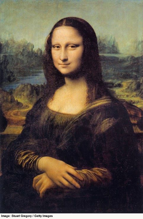 Mona Lisa - the most famous painting in the Louvre.  Painted by Leonardo deVinci, circa 1503-19.
