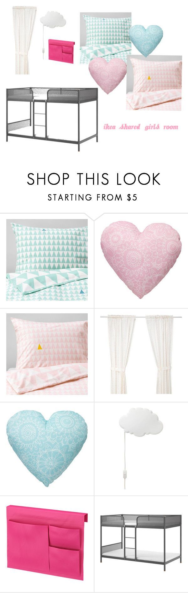"""IKEA Girls Room"" by hopeisobel on Polyvore featuring interior, interiors, interior design, home, home decor and interior decorating"