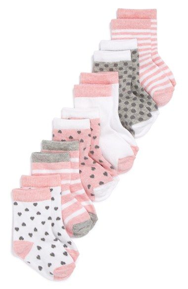 Nordstrom Baby Crew Socks (Baby) (6-Pack) available at #Nordstrom