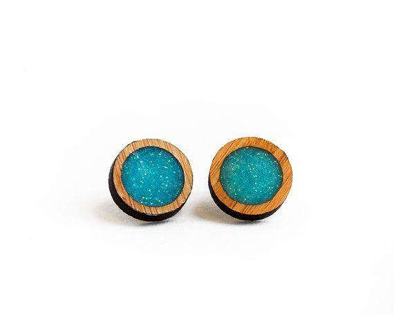 Round Resin Earrings White Resin Earrings by HeartoftheHeart