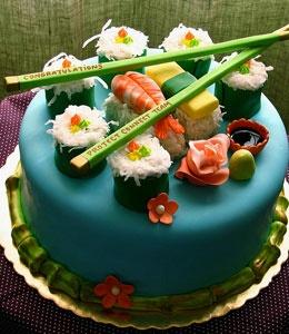 Sushi cake!!!Desserts, Candies Sushi, Cupcakes, Food, Awesome Cake, Wedding Cake, Theme Cake, Sushi Cake, Birthday Cake