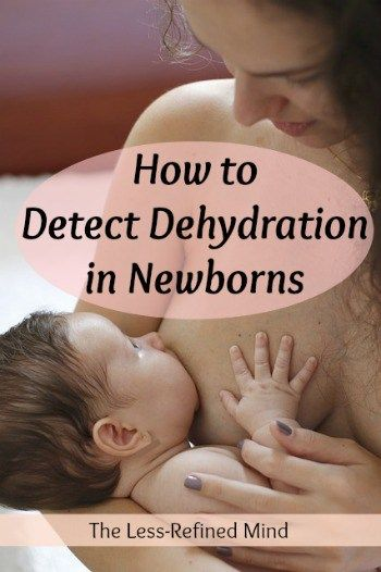 What are the signs of dehydration in a newborn baby? If you're planning to breastfeed but anxious about the possibility of your infant becoming dehydrated, this information will be vital to elminating your concerns. #newborn #dehydration