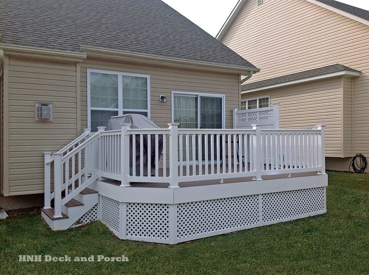 Vinyl Deck Using Azek Brownstone Decking And Longevity
